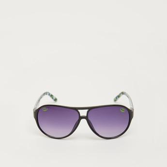 Full Rim Batman Print Sunglasses with Nose Pads