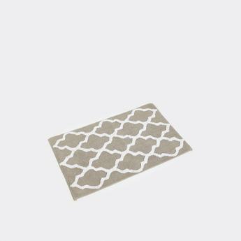 Textured Pattern Rectangular Bath Mat - 80x50 cms