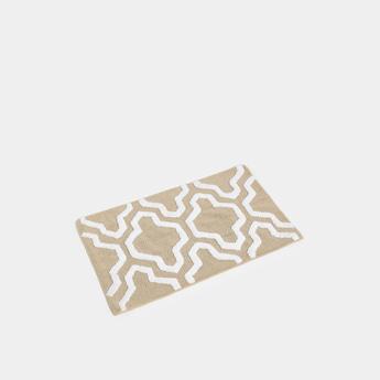 Textured Rectangular Bath Mat with Pattern - 80x50 cms