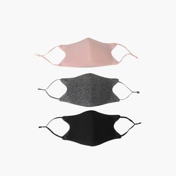 قناع وجه متنوع بأحزمة قابلة للتعديل- طقم من 3 قطع