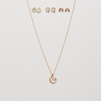 Unicorn Necklace and Earring Set