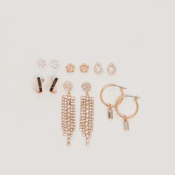 Set of 6 - Assorted Embellished Earrings