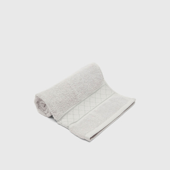 Textured Rectangular Hand Towel with Pattern - 50x80 cms