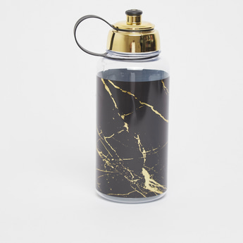Marble Print Water Bottle with Sipper