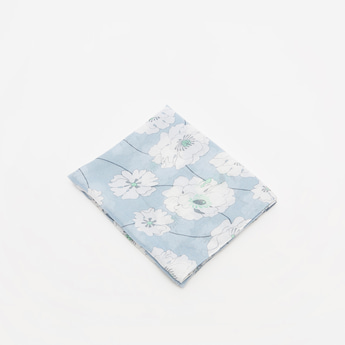 All-Over Floral Print Rectangle Scarf