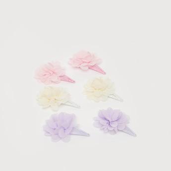 مشبك شعر زهري - طقم من 3 قطع متنوعة