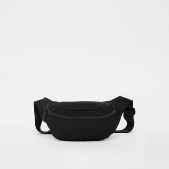 Solid Fanny Pack with Adjustable Straps and Zip Closure
