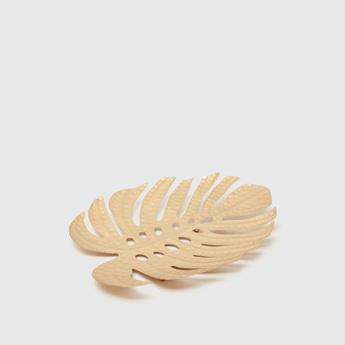 Metallic Leaf Decorative Tray
