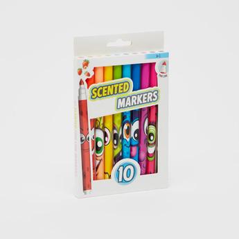 مجموعة من 10 أقلام ماركر معطرة