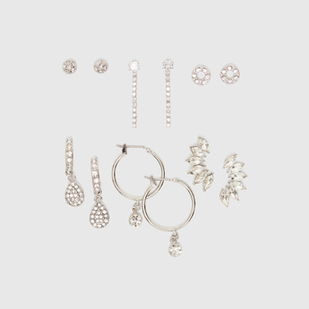 Set of 6 - Assorted Studded Earrings