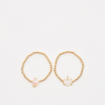 Set of 2 - Applique Detail Bracelets