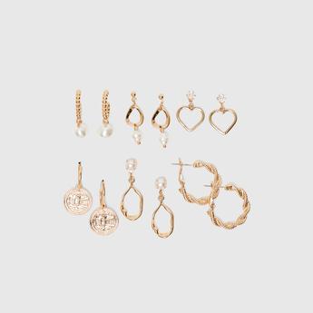 Set of 6 - Embellished Dangling Earrings