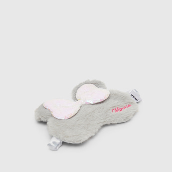 Minnie Mouse Bow Applique Detail Eye Mask with Elasticised Strap