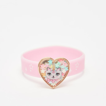 Printed Wrist Band with Heart Shaped Accent