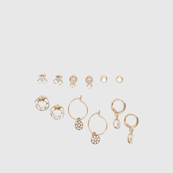 Set of 6 - Embellished Earrings