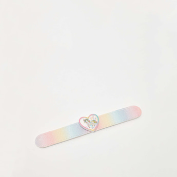 Unicorn Print Bracelet with Heart Shaped Accent