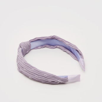 Pleated Hairband with Knot Detail