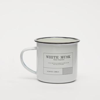 جرة شموع برائحة المسك الأبيض مع مقبض