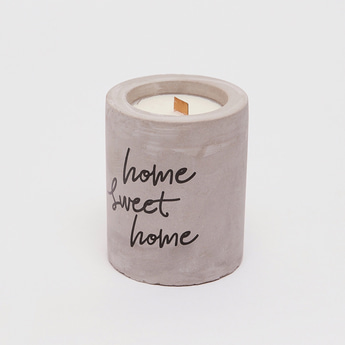 Text Print Jar Candle
