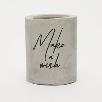 Slogan Print Cement Jar Candle