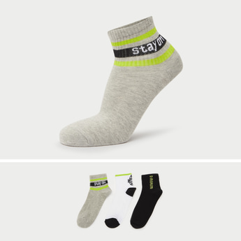 Pack of 3 - Printed Ankle Length Socks