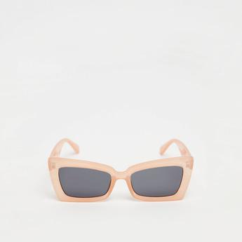 نظارة شمسية بعدسات ملونة ووسادات أنف