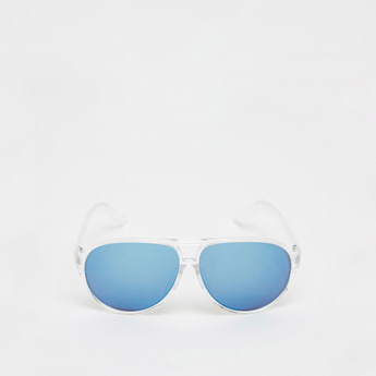 Tinted Full Rim Sunglasses with Nose Pads