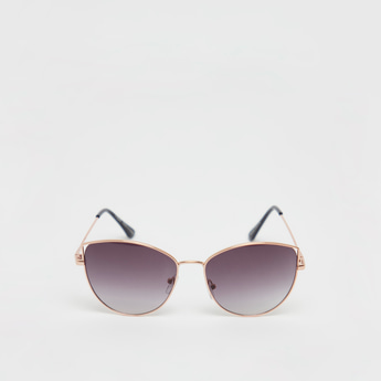 Solid Sunglasses with Temple Tips