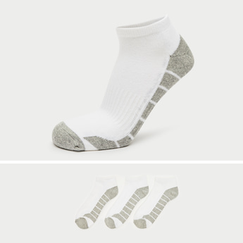 Pack of 3 - Solid Ankle Length Socks with Cuffed Hem