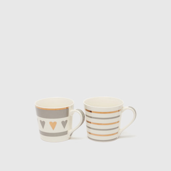 Set of 2 - Printed Mug with Handle