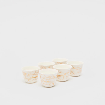 Set of 6 - Abstract Print Kava Cups