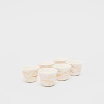 فناجين قهوة بطبعات تجريدية - طقم من 6 قطع