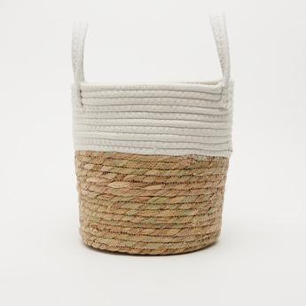 Weaved Basket with Double Handle