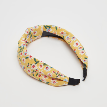 All-Over Print Hairband with Knot Detail