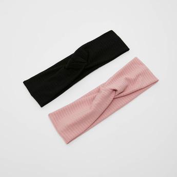 ربطة رأس بارزة الملمس بتفاصيل عقدة - طقم من قطعتين