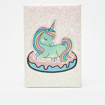 Unicorn Print Notebook with Bookmark