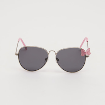 Metal Sunglasses with Bow Accent