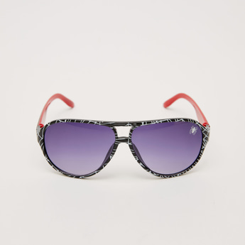 Plastic Sunglasses with Printed Frame