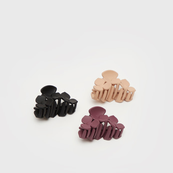 Set of 3 - Floral Hair Clamp