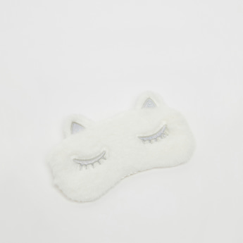 Plush Eye Mask with Applique Detail and Elasticised Strap