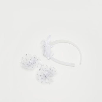 Textured Bow Detail 3-Piece Hair Accessory Set