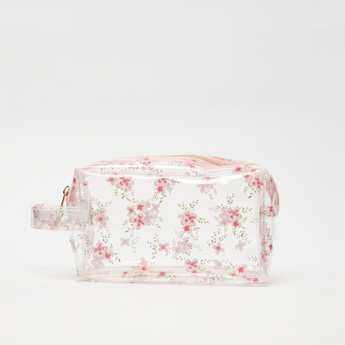 Printed Pouch with Zip Closure and Handle