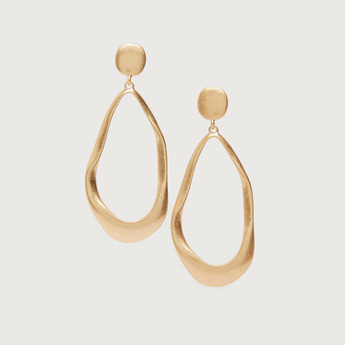 Solid Dangling Earrings with Pushback Closure
