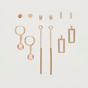 Set of 6 - Embellished Assorted Earrings