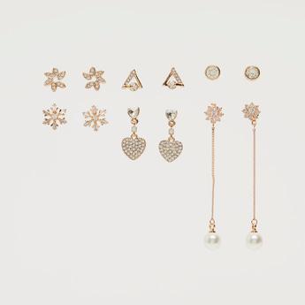 Set of 6 - Studded Assorted Earrings