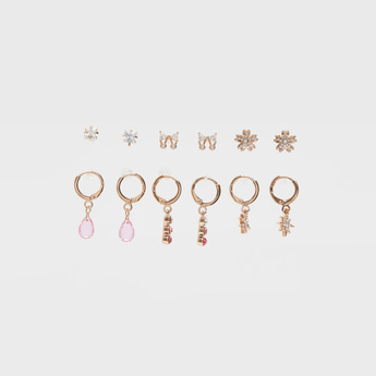 Set of 6 - Embellished Assorted Earrings