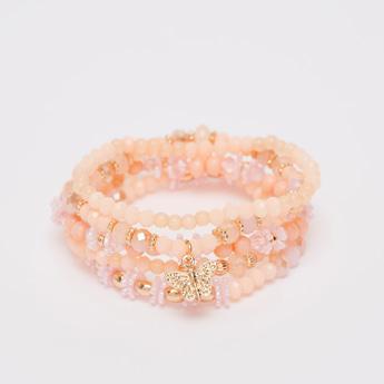 Set of 5 - Beaded Round Bracelets