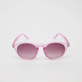 Tinted Sunglasses with Glitter Finished Frame