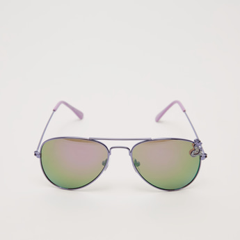 Metallic Full Rim Aviator Sunglasses