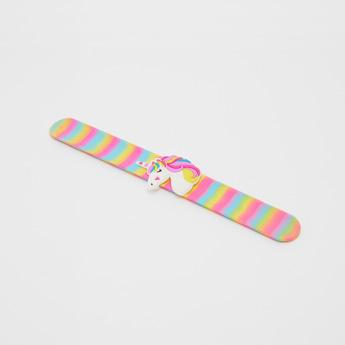 Unicorn Applique Slap Bracelet